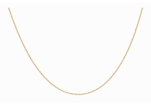 Anna + Nina Twisted Plain Necklace Long Silver Goldplated