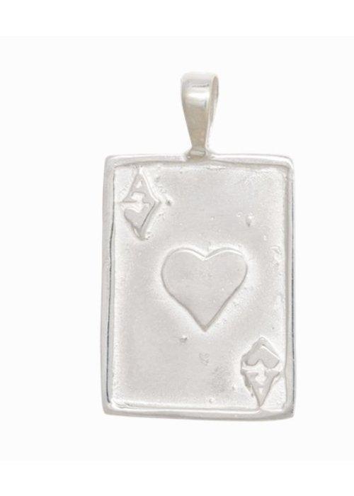 Anna + Nina Ace Necklace Charm Silver