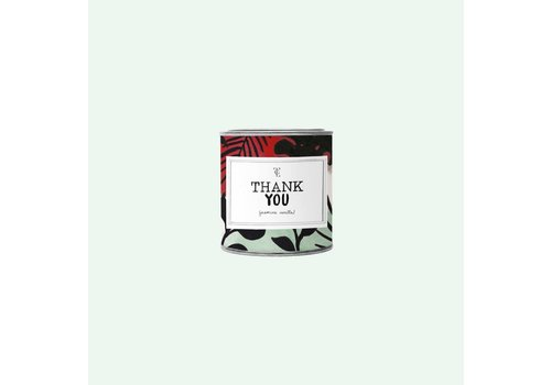 The Gift Label Big Candle Tin Thank You