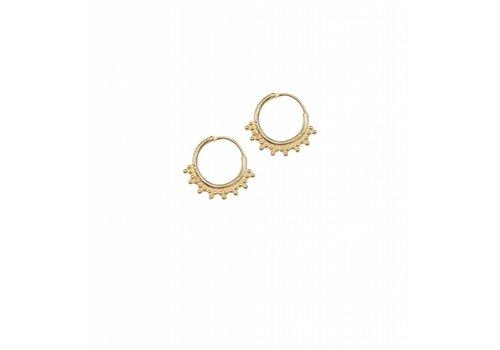 Anna + Nina Tiny Goa Earring Medium Goldplated