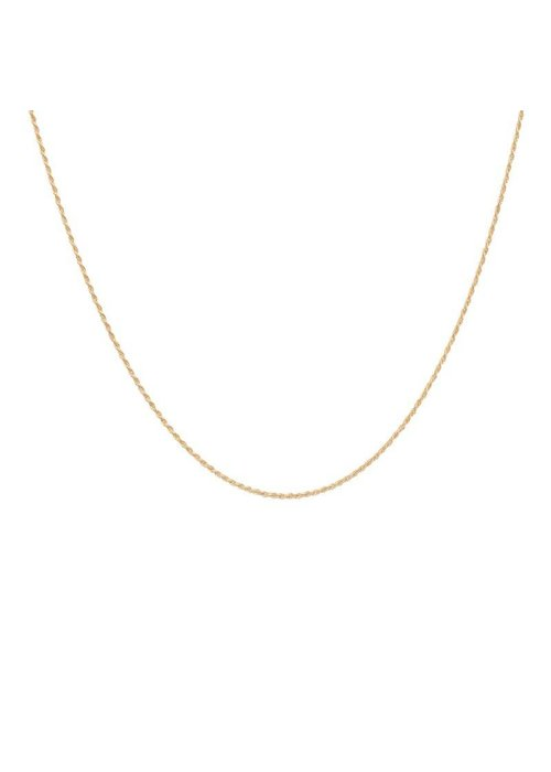 "Anna + Nina Twisted Plain Necklace Long Goldplated ""Long"""