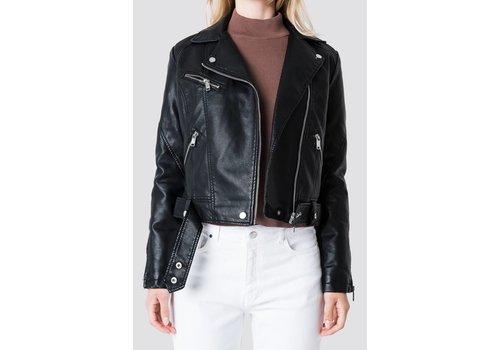NA-KD faux leather jacket