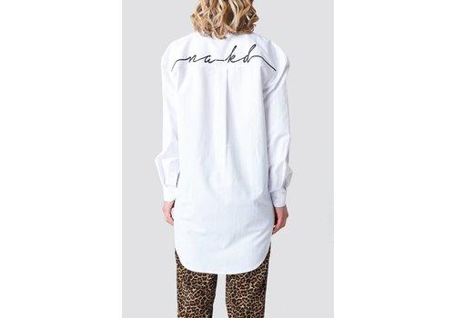 NA-KD Oversized Embroidery Shirt