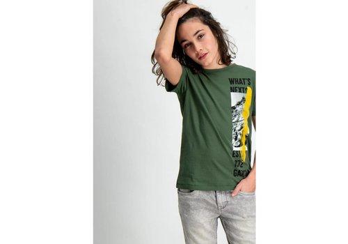 Garcia t-shirt met gekleurde opdruk