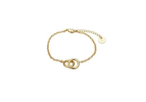 Bud to rose Hitch Bracelet Gold