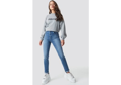 NA-KD Skinny Raw Hem Jeans