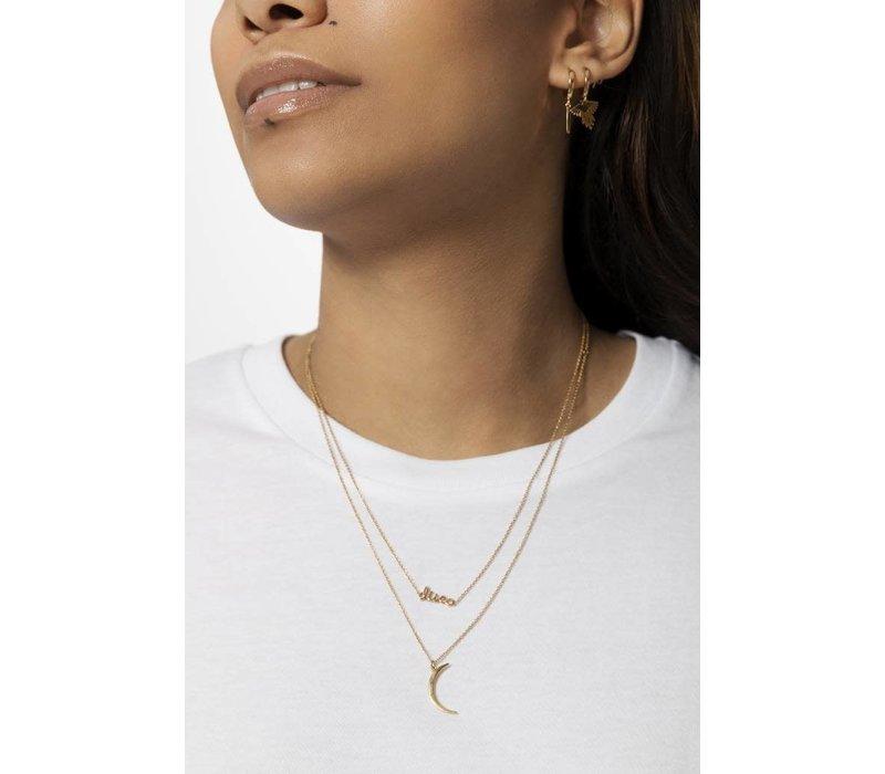 Souvenir necklace Long moon - Gold