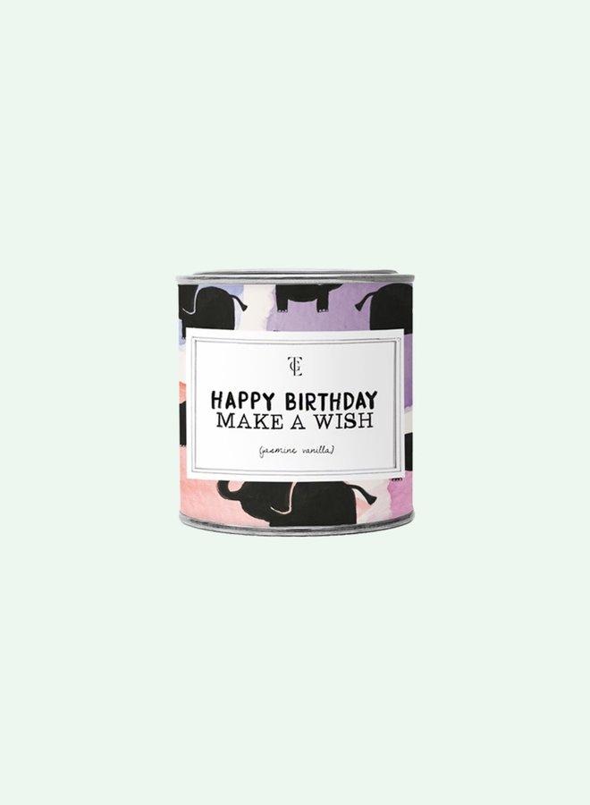 Big Candle Tin Happy Birthday - Vanilla