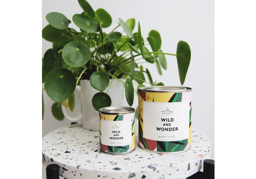 The Gift Label Big Candle Tin Wild And Wonder - firewood