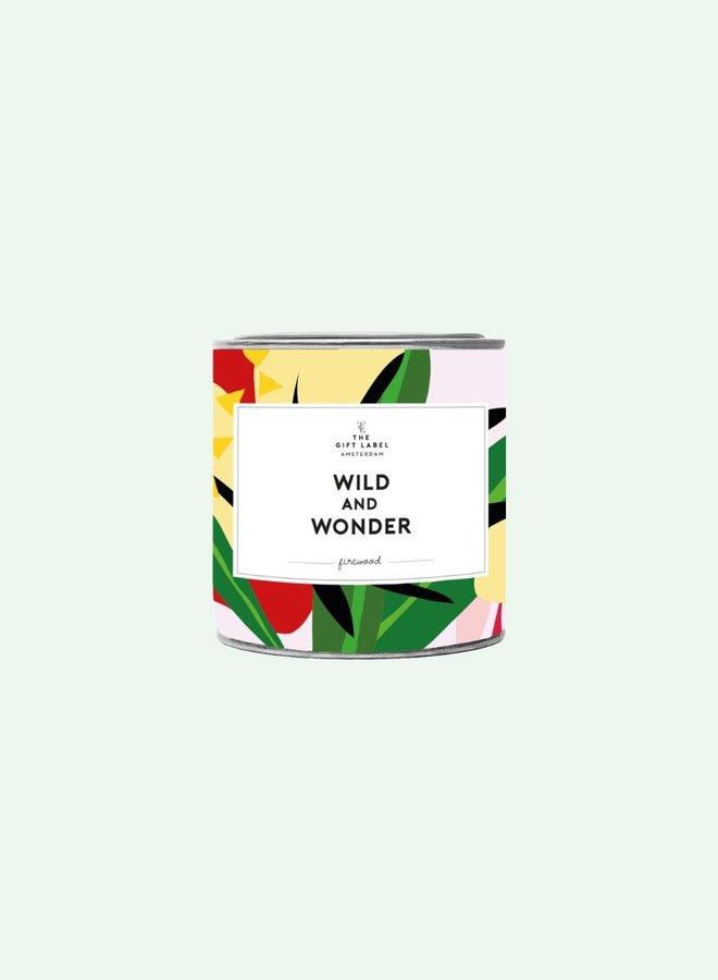 Big Candle Tin Wild And Wonder - firewood