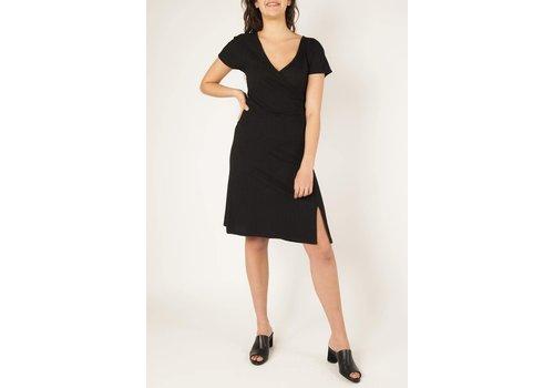 NA-KD Drape V-neck Midi Dress