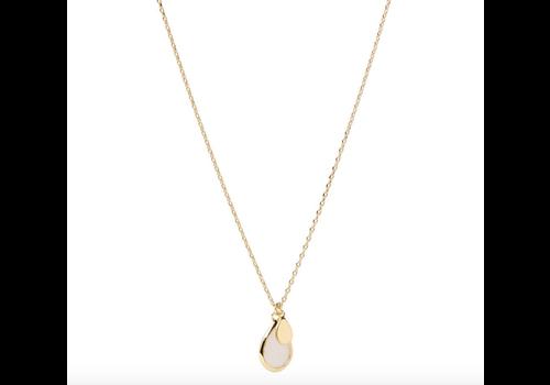 Orelia Teardrop Necklace - gold