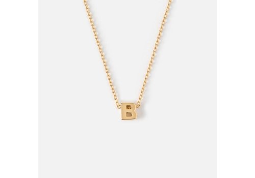 Orelia Gold Plated Initial Necklace - B