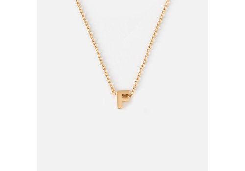Orelia Gold Plated Initial Necklace - F