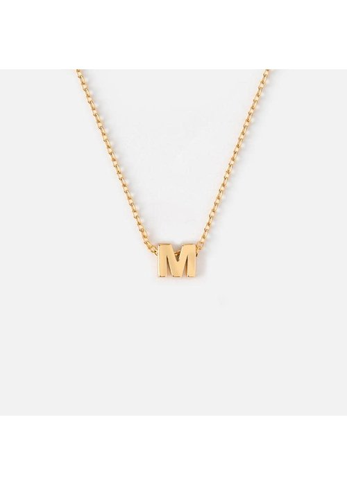 Orelia Gold Plated Initial Necklace - M