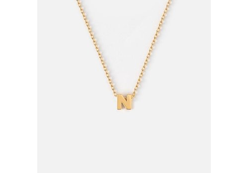 Orelia Gold Plated Initial Necklace - N