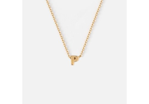 Orelia Gold Plated Initial Necklace - P