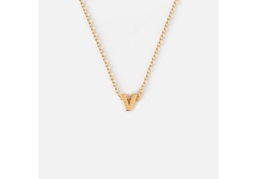 Orelia Gold Plated Initial Necklace - V