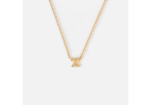 Orelia Gold Plated Initial Necklace - X