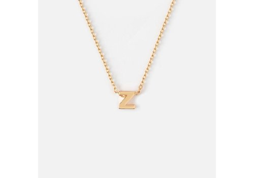 Orelia Gold Plated Initial Necklace - Z