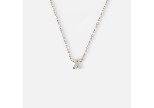 Orelia Silver Plated Initial Necklace - X