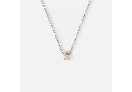 Orelia Silver Plated Initial Necklace - S