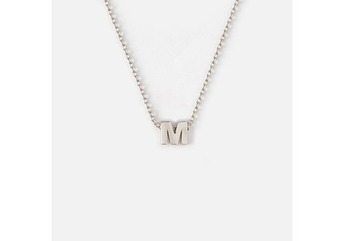 Orelia Silver Plated Initial Necklace - M