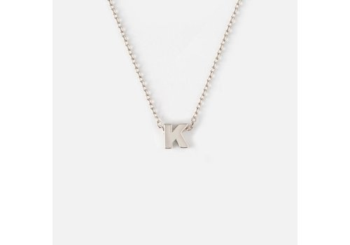 Orelia Silver Plated Initial Necklace - K