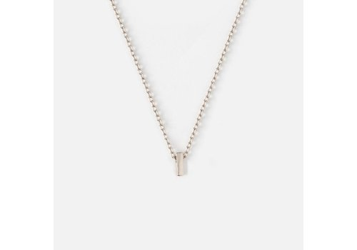 Orelia Silver Plated Initial Necklace - I