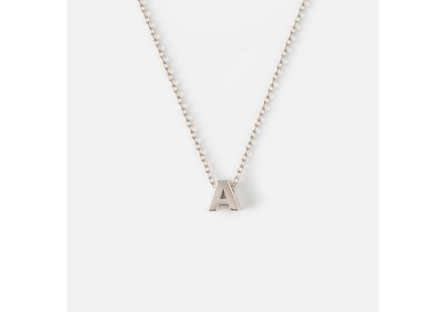 Orelia Silver Plated Initial Necklace - A