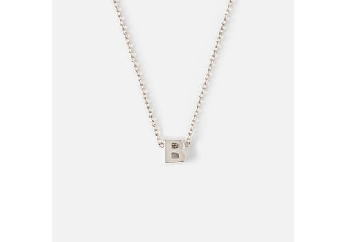 Orelia Silver Plated Initial Necklace - B