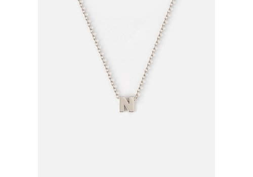 Orelia Silver Plated Initial Necklace - N