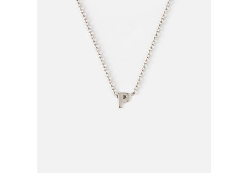 Orelia Silver Plated Initial Necklace - P