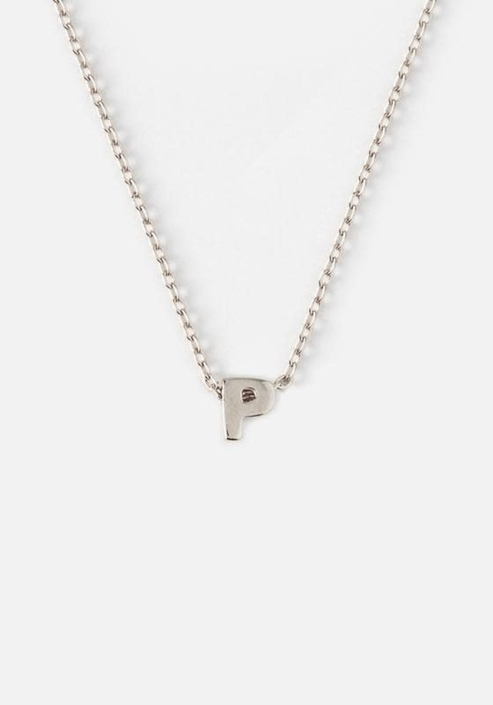 Silver Plated Initial Necklace - P