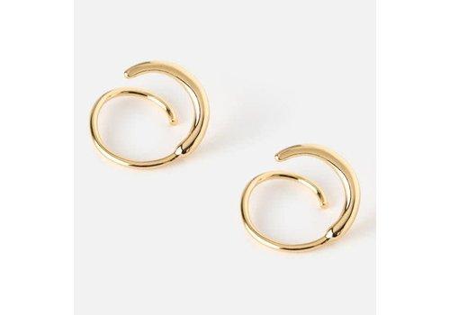 Orelia Metal twirl earring pale gold