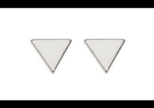 Orelia Studs Triangle Silver