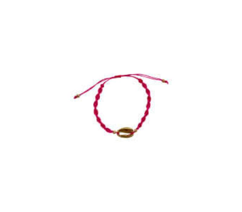 CRETE shell bracelet pink/gold