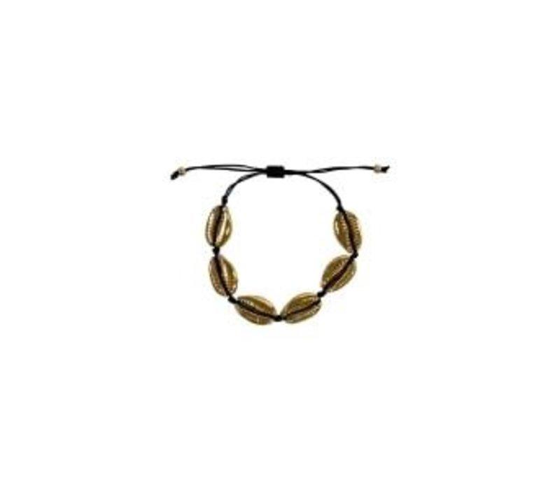 IBIZA shell bracelet black/gold