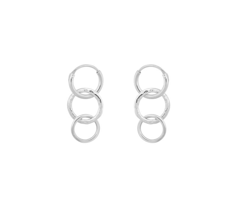 Multi Eden Ring Earring Silver