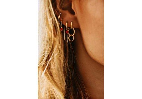Anna + Nina Multi Eden Ring Earring Silver Goldplated