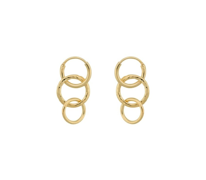 Multi Eden Ring Earring Silver Goldplated