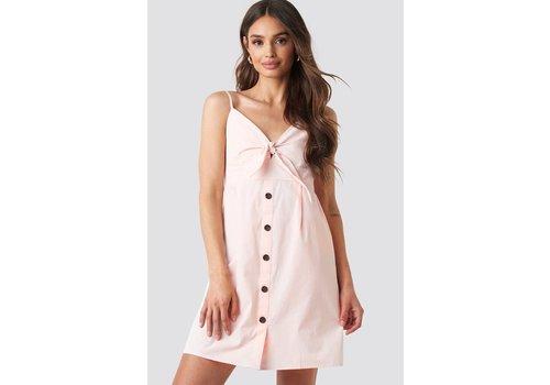 NA-KD Tie front button mini dress
