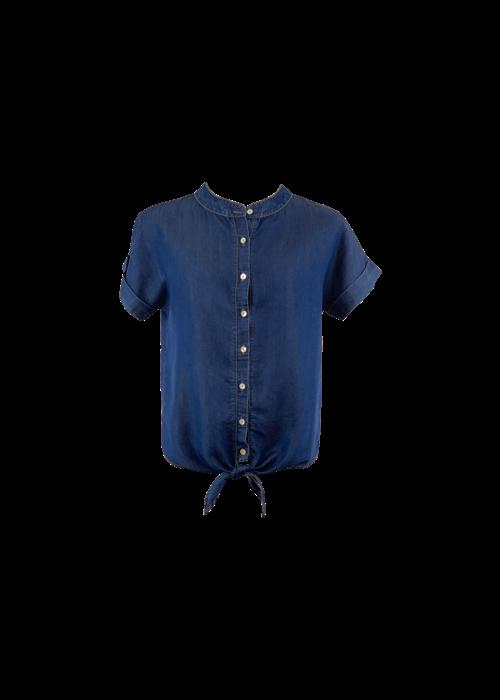 Black Colour FIE s/s Denim Shirt