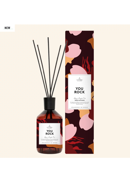 The Gift Label Reed diffuser - You rock - Spicy and royal Oud