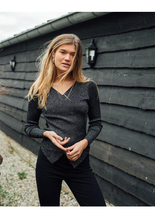 Things I Like Things I Love Yara Glitter Knit - Black - One Size