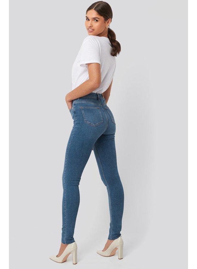 Skinny High Waist Raw Hem Jeans Tall