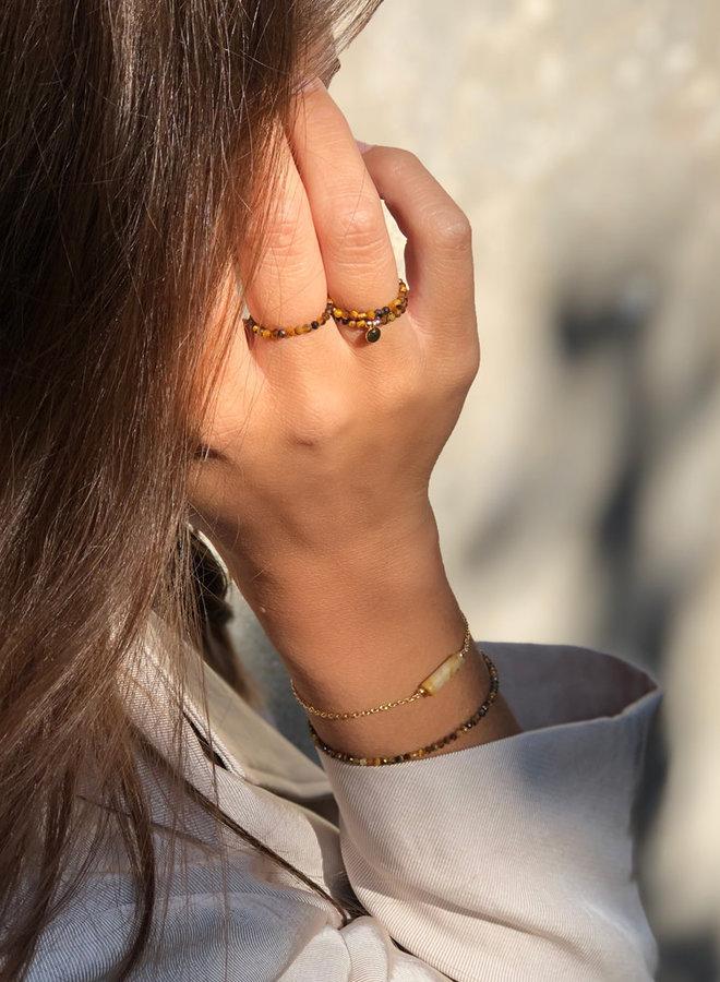 Ring goud – tiger eye