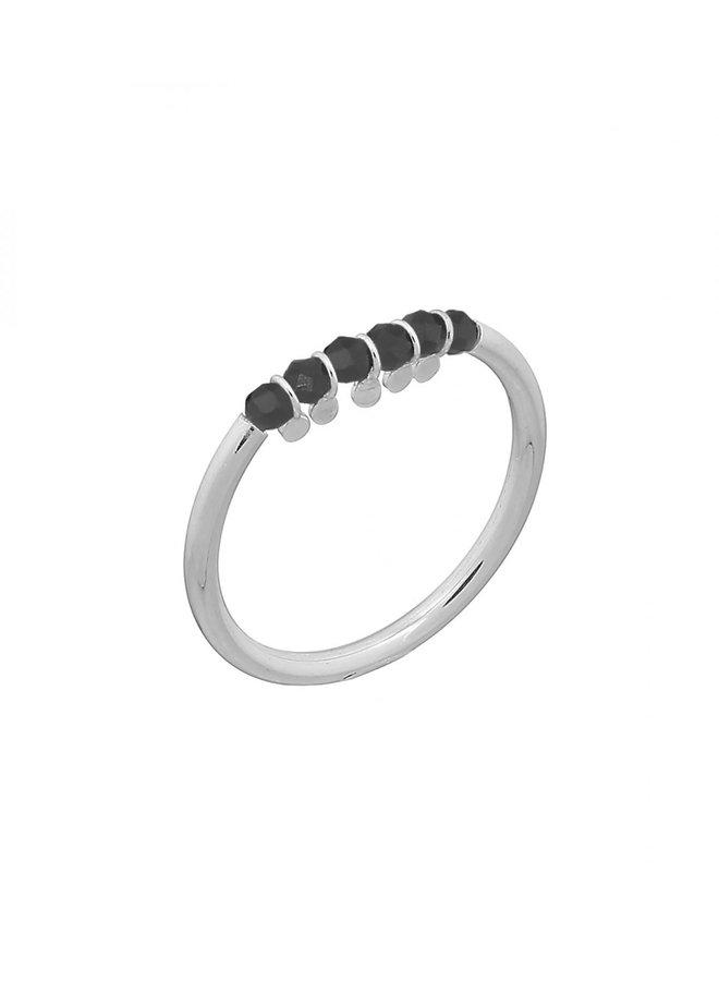 Ring zilver – bits black