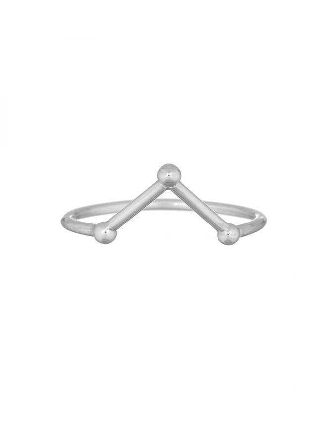 Ring zilver – three points
