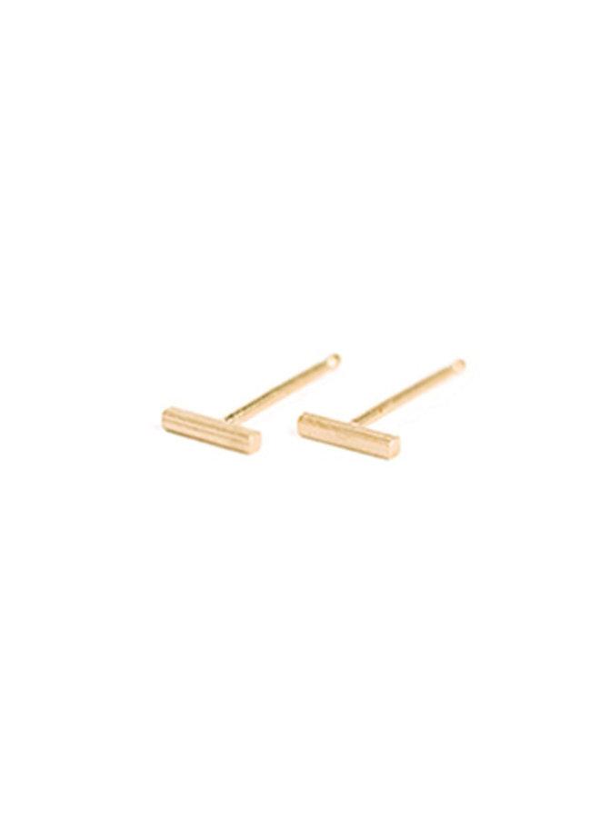 Oorbellen goud - tiny bar